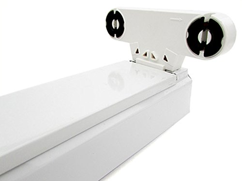 Porta Lampada Plafoniera Per Doppio 2 Tubi Led T8 da 60cm Interno Non Impermeabile IP20