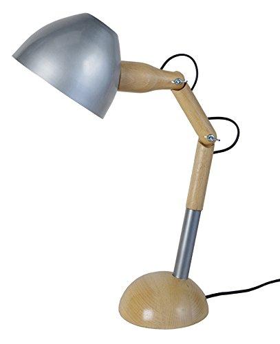 Tosel 90142Crick 1lampada da scrivania legno faggio massiccio/Lamiera Acciaio/Vernice epossidica legno/alluminio 140x 350x 350mm