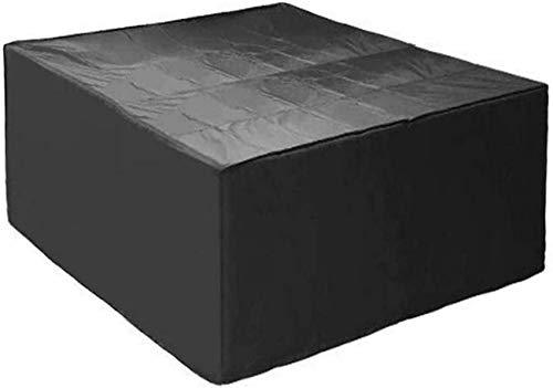240x240x90cm Cubiertas para muebles de jardín, Cubierta para muebles de patio Rectangular, 420D Cubierta grande para muebles de ratán para exteriores para rayos ultravioleta de nieve a prueba de vie