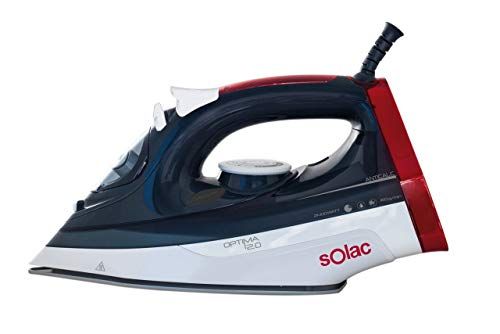 Solac PV2013 Optima 2.0-Plancha de vapor, 2400 W, 0.38 litros, Multicolor, rojo, blanco y azul