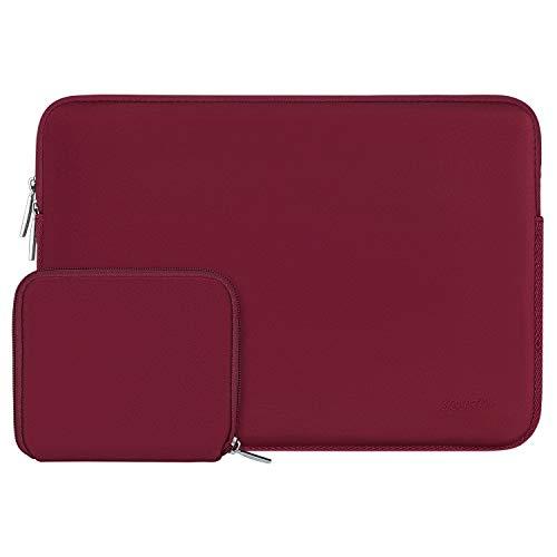 MOSISO Laptop Sleeve Kompatibel mit 13-13,3 Zoll MacBook Pro, MacBook Air, Notebook Computer, Wasserabweisend Neopren Tasche mit Klein Fall, Rot
