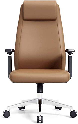 MHIBAX Silla para juegos Silla deoficina Silla ergonómica de oficina Silla giratoriaelevable decuero para oficina con polea y sillón Cómoda y transpirable (Color: Como