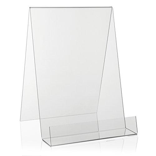 VITAdisplays® - Soporte para Libros/Expositor de Libros como Soporte y Soporte Inclinado en Formato DIN A4 de plexiglás, Transparente