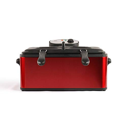 LIVOO DOC149 Maxi Friteuse, 3000 W, 6 liter, rood