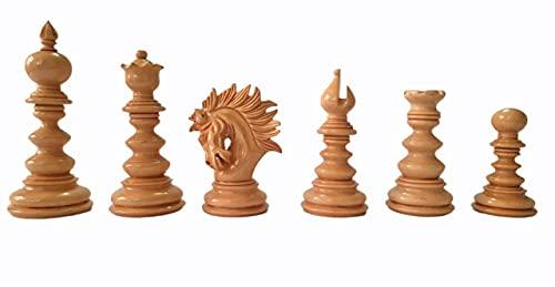 War Of Chess - Piezas de ajedrez de Staunton de 4.5 pulgadas - ébano / boj