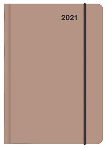 STONE 2021 - Diary - Buchkalender - Taschenkalender - 12x17: Midi Flexi Diary EarthLine