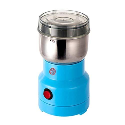 Huacheng Multifunktionale EU/US/UK/Plug 220 V 150 W Kaffeemühle, elektrisch, Edelstahl/Körnchen/Zerkleinern von Kaffeebohnen, Blau, EU-Stecker