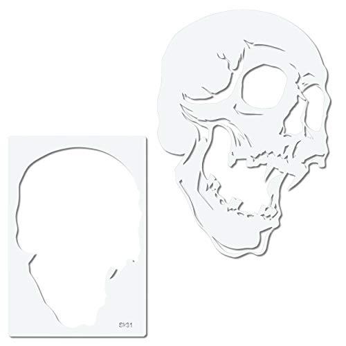 Airbrush Schablone Totenkopf - Skull Stencil SK-Brush