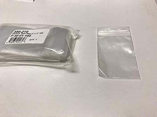 "Ziplock Type Bag 2"" x 3"" 100 Pcs. - Parts-Express"