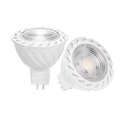 YAYZA! 4er Pack Neue Generation MR16 GU5.3 6W 12V AC/DC Niederspannungs-LED COB Strahler Glühbirne 500lm 50W Halogen entspricht 60 Grad breitstrahlender dimmbarer Lampe Farbe Kaltweiß 6000K