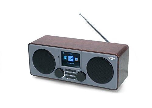 Xoro DAB 600 IR Internetradio (Stereo, DAB Plus, UKW, Wecker, USB 2.0, Farbdisplay) grau