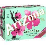 Arizona Green Tea With Ginseng & Honey, 11.5 oz, 12c