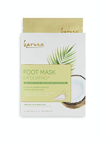 Karuna Exfoliating+ Foot Mask: for Rough & Callused Skin, Hydrates & Gently Exfoliates Dead Skin...