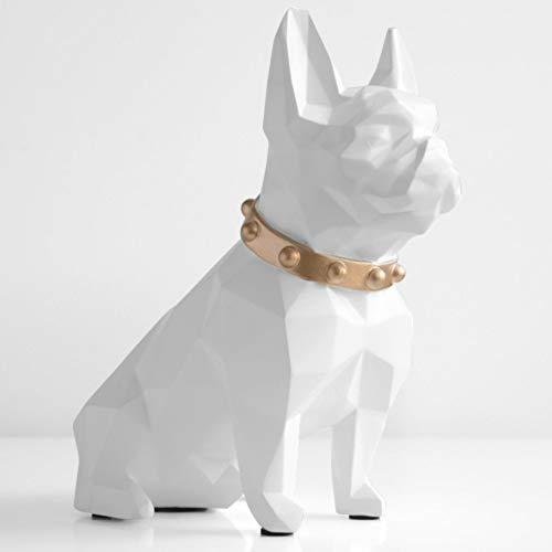 Kassa MYKK Spaarpot Hars Hond Beeldje Home Decoraties Munt Opbergdoos Houder Speelgoed Kind Geschenk Spaarpot 19.5 * 18.5 * 9.5cm Wit