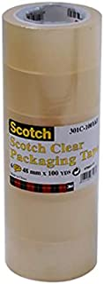 301C-50Y6T SCOTCH CLEAR 48MMX50YDS PACKAGING TAPE