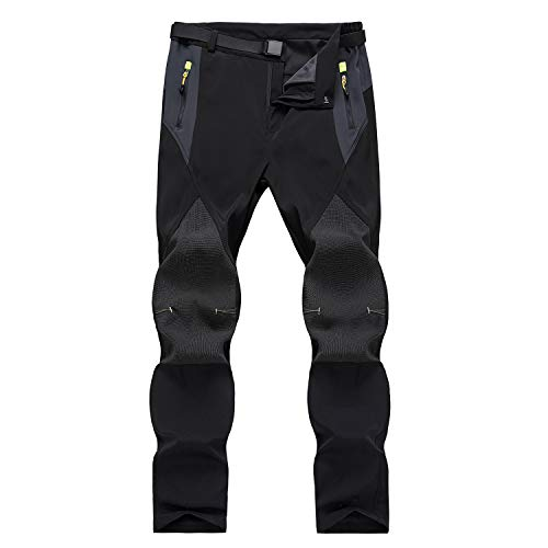 7VSTOHS Pantalones de Senderismo al Aire Libre para Hombre Pantalones Casuales cómodos, Ligeros y Transpirables Pantalón de Escalada y equitación