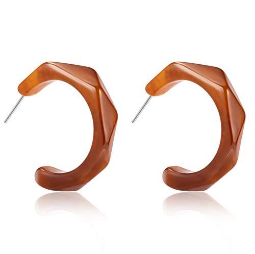 Yhhzw Acrylic Hoop Brown Earrings Geometry Earrings For Women Female Dangle Drop Earrings Female Jewelry
