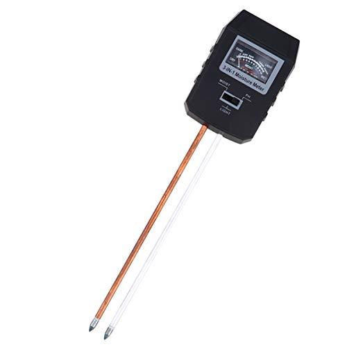 Hemobllo - Medidor de suelo 3 en 1 con manecillas e higrómetro de temperatura del suelo, higrómetro de agua de suelo y pH para plantas de césped