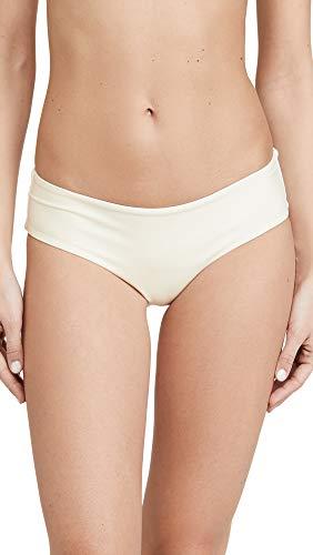 MIKOH Women's Bondi Cheeky Bikini Bottoms, Bone, Off White, X-Small
