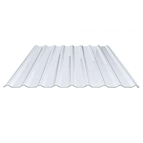 Lichtplatte | Spundwandplatte | Profil 20/1100 | Material PVC | Breite 1144 mm | Stärke 1,4 mm | Farbe Klarbläulich | Dach