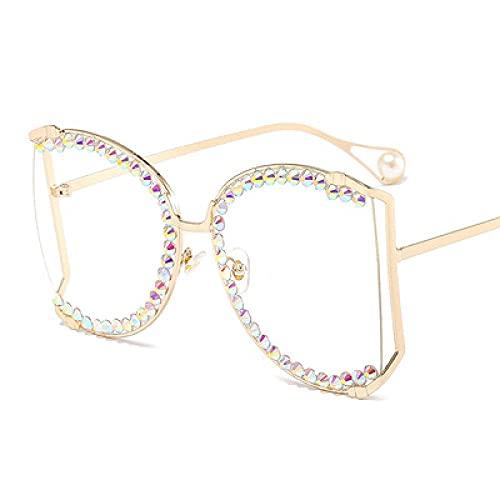 Powzz ornament Europa y los Estados Unidos nuevos gafas de lentes de color mujeres s gran caja manual taladro de sol gafas de sol de lujo Rhinestone Gafas de sol-6_Otro
