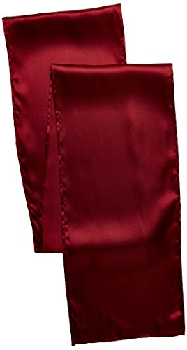 LinenTablecloth 14 x 108-Inch Satin Table Runner Burgundy