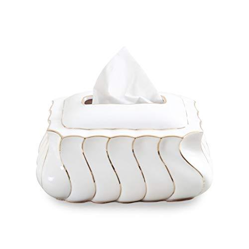 BIAOYU Porta fazzoletti da tavolo in ceramica con magnete fatto a mano per la casa, soggiorno, tovaglioli, carta da regalo, porta fazzoletti