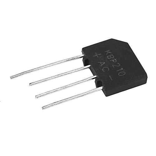 KBP210 Puente de rectificador de diodo plano 2A 1000V Interruptor de ajuste de fuente de alimentación de 4 pines(10pcs)