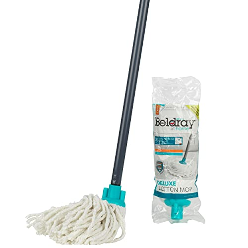 Beldray® LA049773 Absorbent Round Cotton Mop with Refill | Super Absorbent | 120 cm Handle | Ideal for Cleaning Hard…