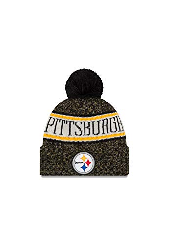 New Era New Era ONF18 Sport Knit Bommelmütze Pittsburgh Steelers Schwarz, Size:ONE Size