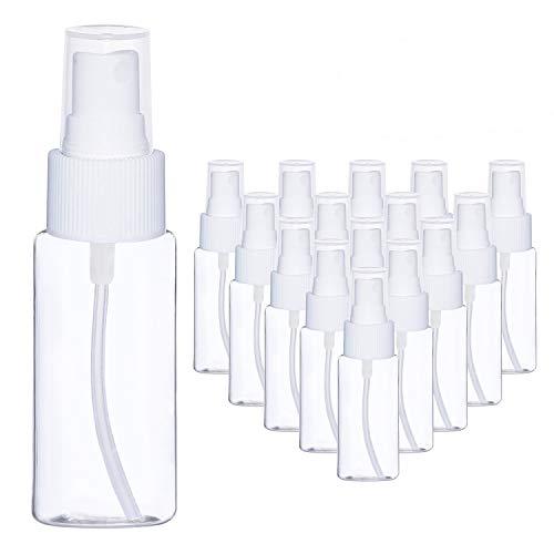 BELLE VOUS 80ML Flacone Spray (20 Pezzi) - Bottiglie Plastica Trasparente Spray con Nebulizzatore- Bottiglie Ricaricabili Anti Goccia- Perfette per Oli Essenziali, Profumi, Spray-da Viaggio