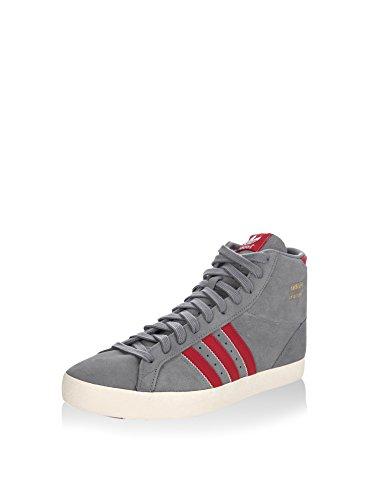 adidas Sneaker Alta Basket Profi Grigio/Rosso EU 45 1/3