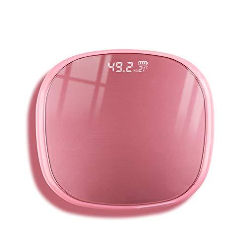 Ahagut Básculas Digitales Básculas Básculas de Vidrio personales Básculas domésticas con Sensor táctil, balanzas electrónicas con baterías.