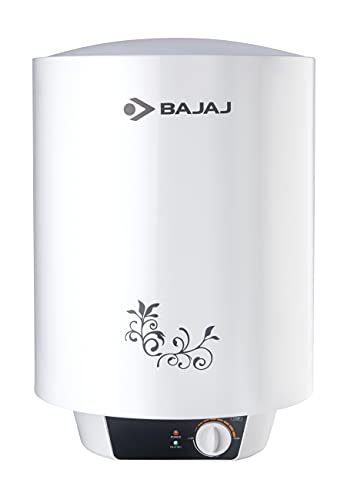 Bajaj New Shakti Neo 15L Metal Body 4 Star Water Heater with Multiple Safety System, White
