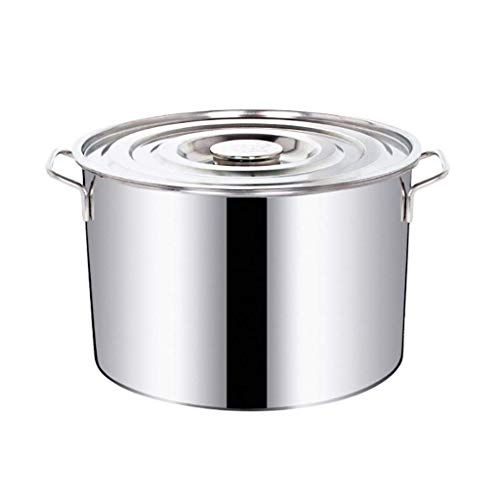 ZH-WANG Pan Large Deep Stainless Steel Cooking Stock Pot,Stockpots,Easy to Clean,Suitable for All Stove Tops (Size : 40 23cm) (Size : 40 23cm)