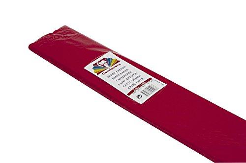 Clairefontaine Papier Crépon, 2.50x 0.50m, 75%- Qualité Supérieure -Rouge