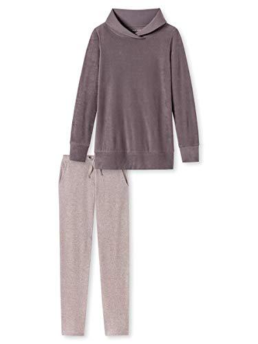 Schiesser Damen-Schlafanzug Frottee Rose/Taupe Größe 42