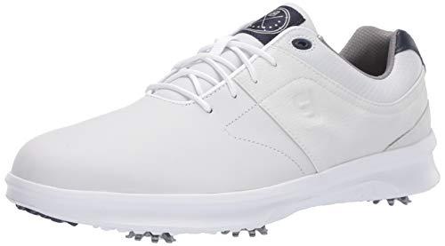 FootJoy Contour, Zapatos de Golf para Hombre, Blanco, 42 EU