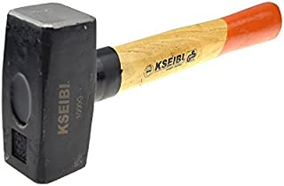 KSEIBI 271900 Club Hammer with Wooden handle and Nylon Protection band 1000G (2.2LB)