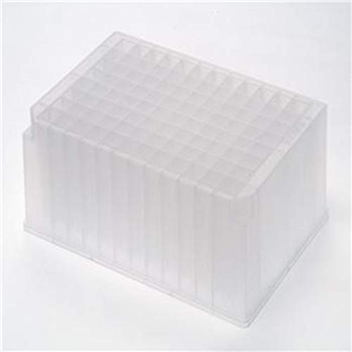 Axygen P-2ML-SQ-C Deep Well 96-Well x 2mL Assay Storage Microplate with Square Wells, Clear PP (25/Case)