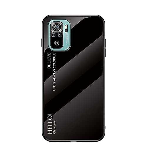 SCRENDY Funda para Xiaomi Redmi Note 10/10S (4G), Tapa Trasera de Cristal...