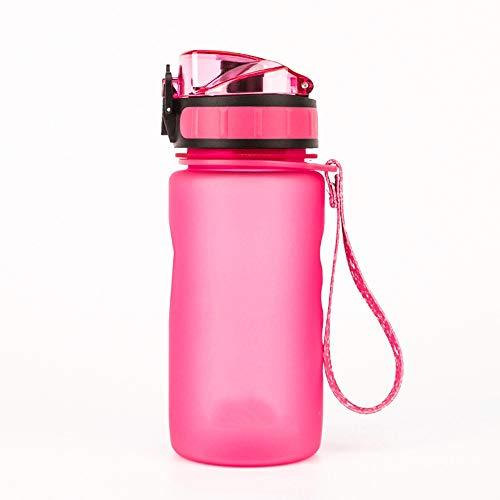 Bouteille d'eau en plastique pour enfants portables, Meilleure bouteille d'eau de sport en plein air, Camping, Vélo, Randonnée, Fitness, Yoga, Course à pied - Avec filtre, Bouche large, Flux d'eau rap