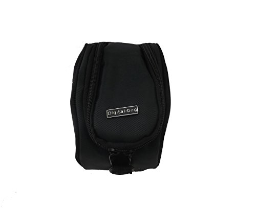 Funda Universal con Bandolera Marca vhbw Color Negro para cámaras Sony HDR Serie HDR-CX240E, HDR-CX280, HDR-CX2, HDR-CX410E, HDR-CX30E, HDR-CX320.