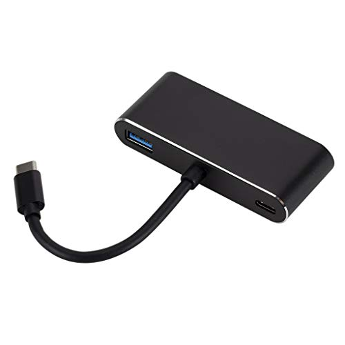 B Blesiya Adaptador USB C a HDMI VGA Puerto HDMI/VGA/Audio/USB 3.0 + Convertidor de Puerto USB C