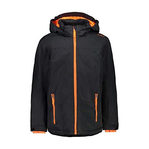 CMP Jungen Snaps Hood Skijacke, Antracite-Orange Fluo, 164