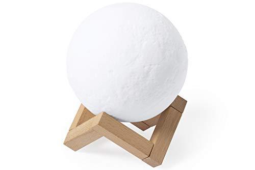MKTOSASA - Compacto Altavoz lámpara en Original diseño Relax, con Base de Madera. Conexión Bluetooth® 5.0, con 3W de Potencia y 2 relajantes Posiciones de luz, con Intensidad Ajustable - 12x15x12