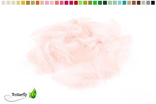 5g Bastelfedern 5-10cm (rose 123 / zartrosa/hellrosa) // Dekofedern Hühnerfedern Marabu Federn Schmuckfedern Marabufedern