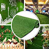 Petgrow 4 FT X 6 FT Synthetic Artificial Grass Turf for Garden Backyard Patio Balcony, Drainage Holes & Rubber Backing,Indoor Outdoor Faux Grass Astro Rug,DIY Decorations for Fence Backdrop