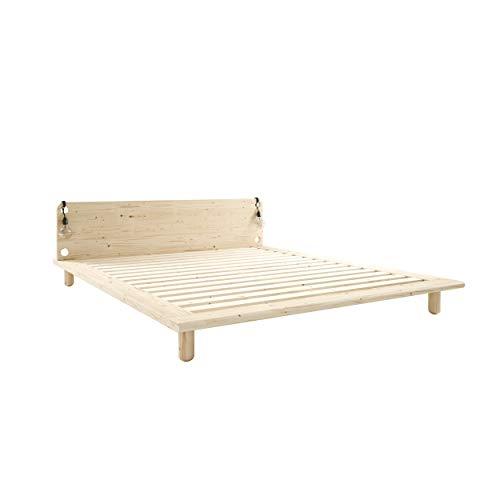 Karup Design Peek Massivholzbett 140x200 |Bettrahmen im Kiefernholz in einem natürlichen hellen Holzton