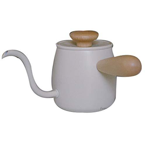 SJQ-coffee pot CafetièRe en Acier Inoxydable de Style Japonais/Mini-Lave-Mains avec Manche en Bois Anti-BrûLure et Bec TrèS Fin, Convient pour la Maison ou Le Bureau